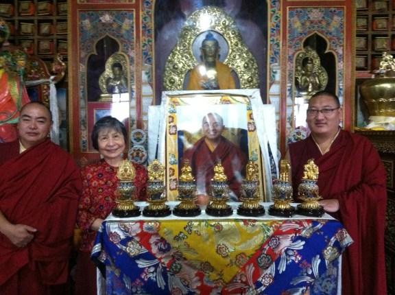 Dorje Palmo with Khenpo Gyurme and Lama Tsering