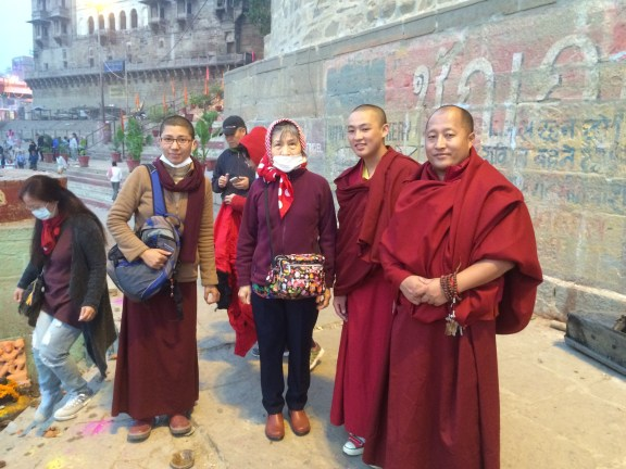 12 (Dorje Palmo with Lamas and Ani in Varanasi)