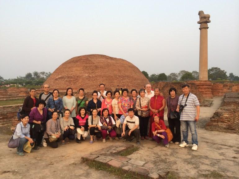 24 (Group at Ashokan Lion Pillar and Stupa in Vaishali)