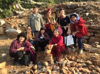 30 (Building Rock Stupas at Vultures Peak)