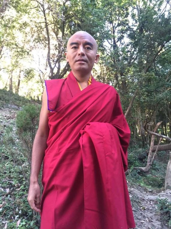 Rinpoche in Garden