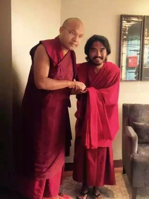 Rinpoche with Karmapa