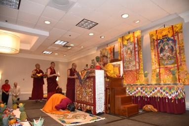 Dorje Palmo Making Offering