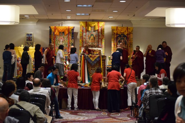 Receiving Blessings at Empowerment