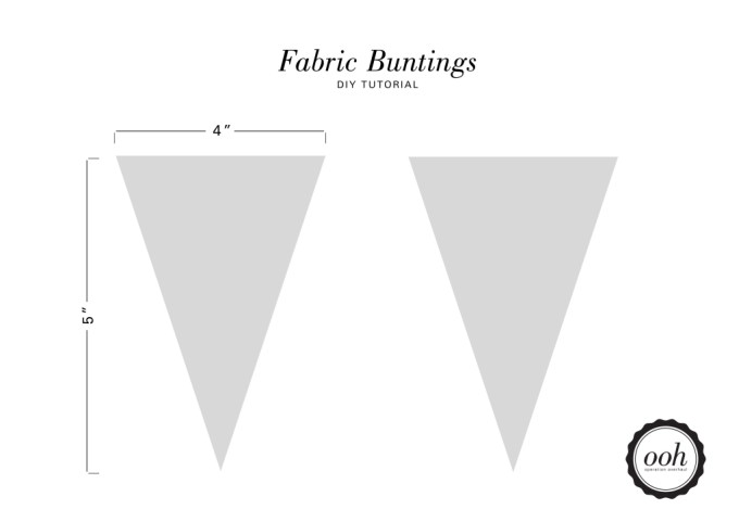 OOH - Fabric Buntings Template