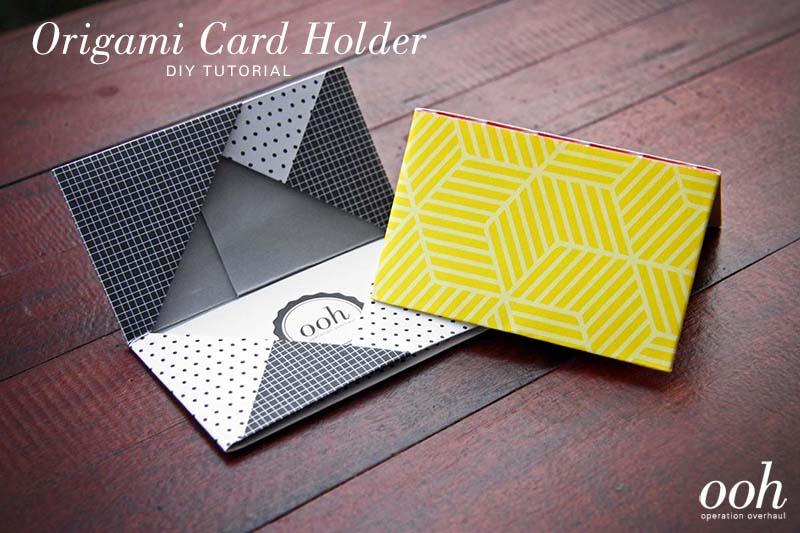 Diy tutorial origami namecard holder ooh origami namecard holder tutorial reheart Image collections