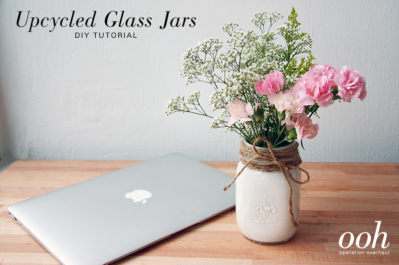 OOH - Upcycled Glass Jars Tutorial Cover