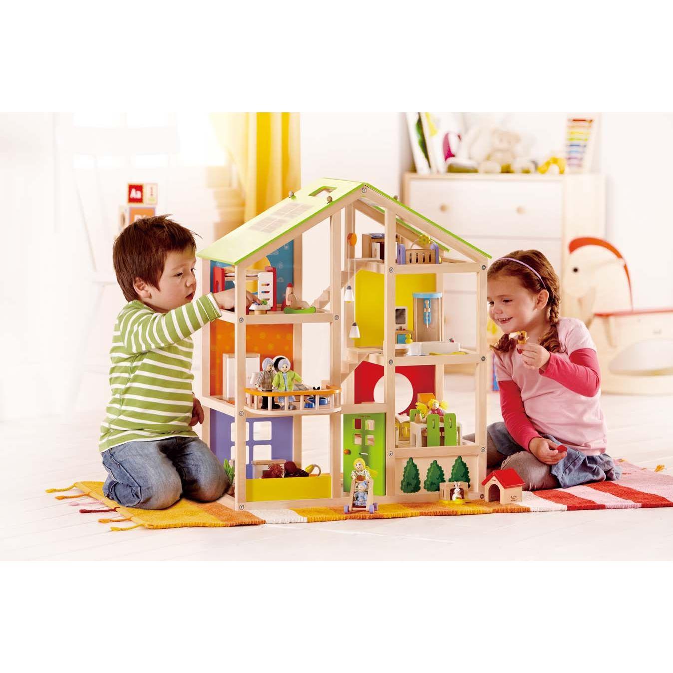 Casa delle Bambole 4 stagioni arredata con famiglia  YOOKIDS