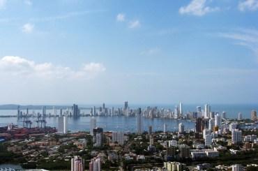The view from La Popa over the Center toward Bocagrande