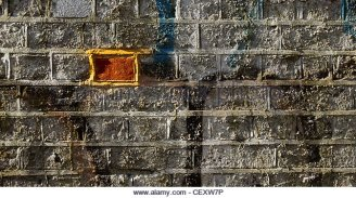a-brick-wall-with-graffiti-with-one-brick-different-from-the-others-cexw7p