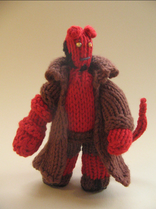 cakeyvoice-knitted-hellboy