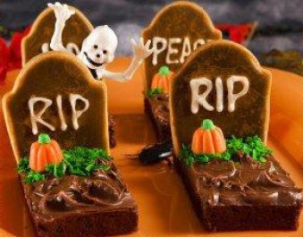 recettes halloween rip tombe brownie