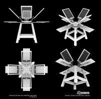 manual rotary silk printing machine