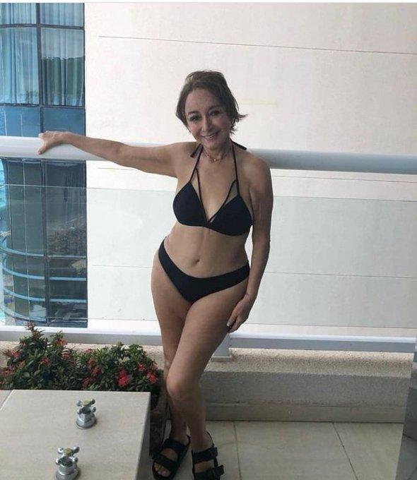 Mira cómo luce en bikini La Chilindrina del Chavo del Ocho a sus 70 años