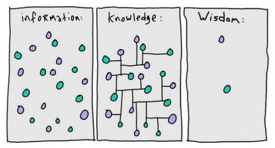 informacion, conocimiento sabiduria