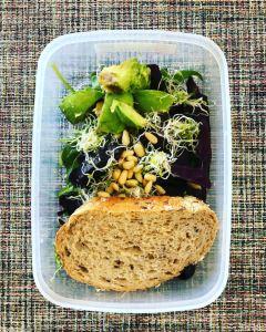 Spinach Avocado Pine Seeds Mealprep