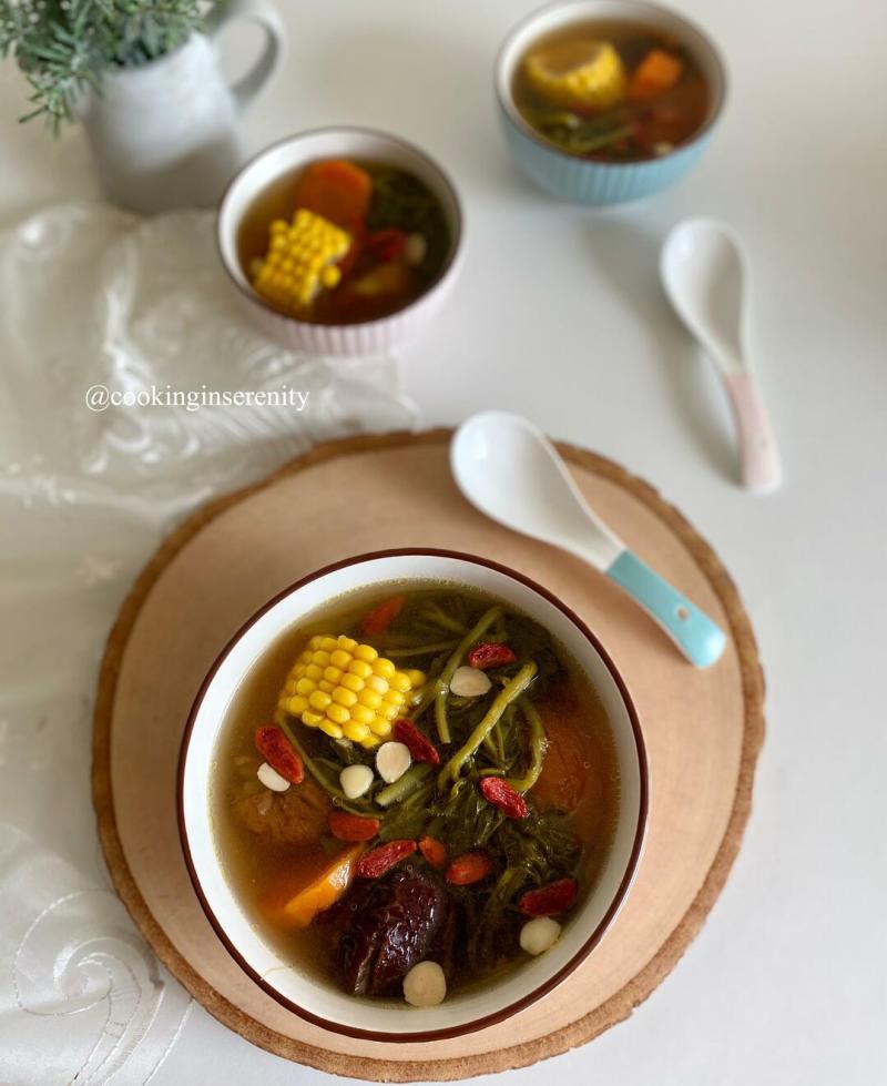 Watercress Sweet Corn Soup