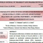 Comparative Effectiveness of Defatted Hypotensive Crude Extract, Ethyl Acetate and Butanolic Fractions of Cassytha Filiformis L. on Different Models of Hypertensive Rats