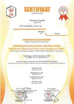 2010-09-30 - PANITIA PHARMACOVIGILANCE UPDATE
