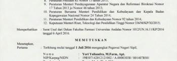 Jabatan Fungsional: Lektor (Lecturer)