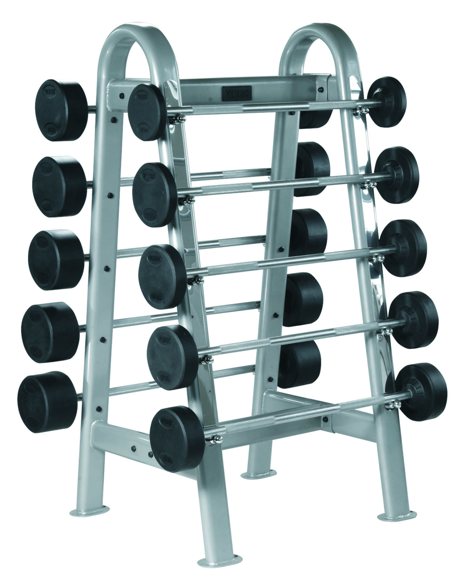 ets fixed straight and curl barbell rack