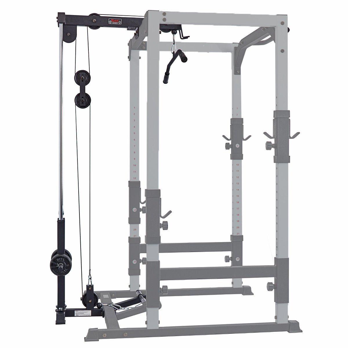 fts hi low pulley option for power cage with weight carriage