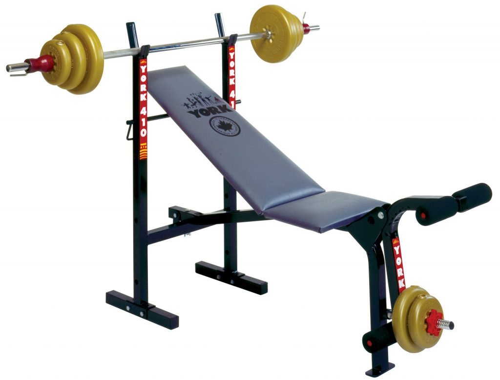 gym bench press chair how to cane a seat 410 machine home equipment york barbell