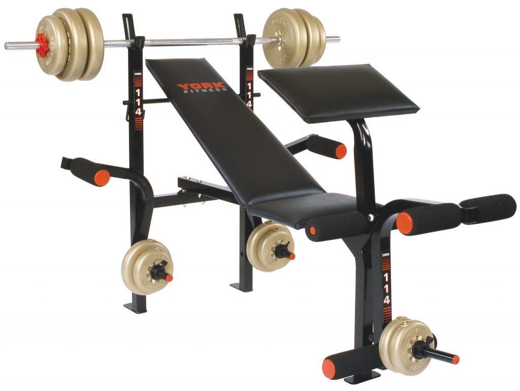 B114 Bench Press Machine Home Gym Equipment York Barbell
