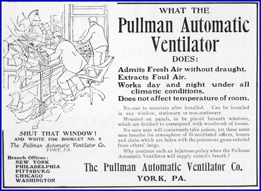 The First PULLMAN Company in York made Ventilators; Part 2