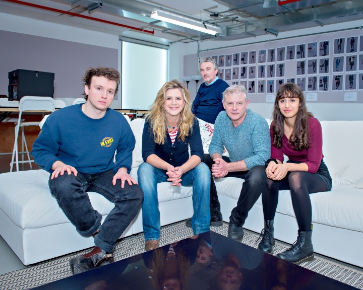 Matt Whitchurch, Imogen Stubbs, Jonathan Lewis & Robyn Cara and director Damian Cruden (back). Photo Anthony Robling-1