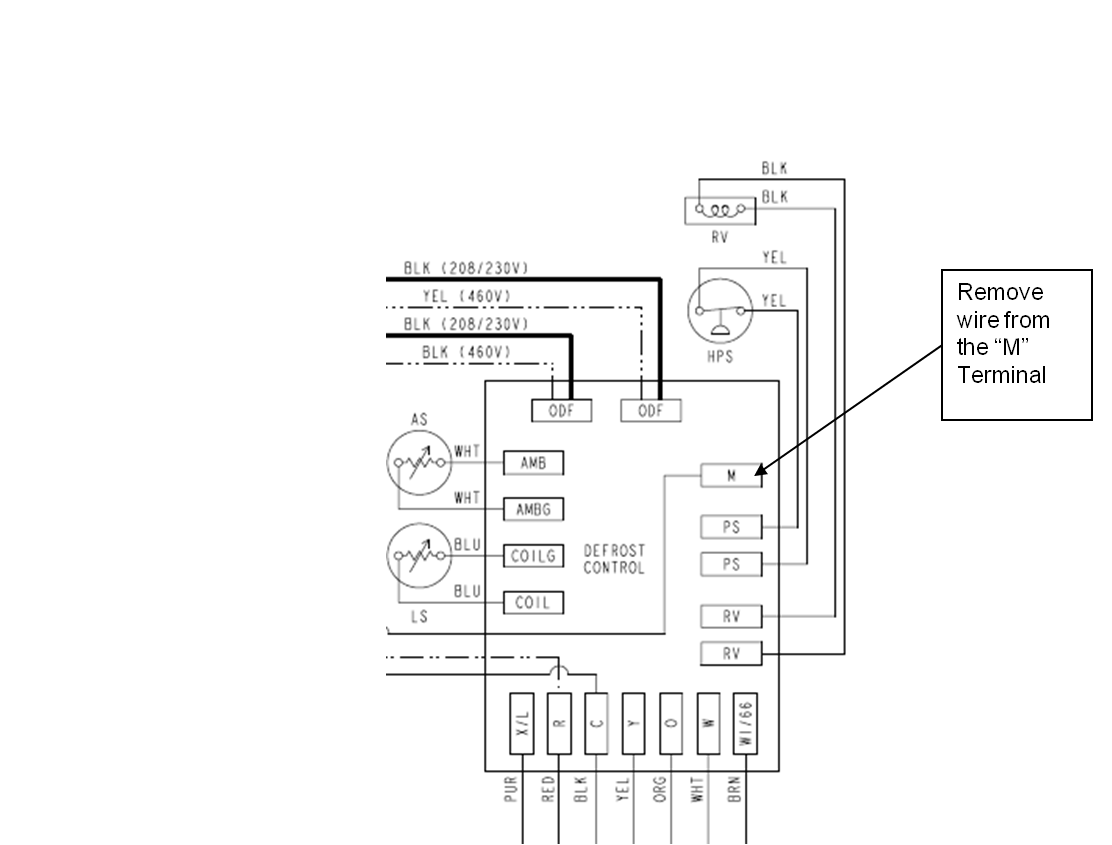 small resolution of mis diagnostics of time temperature defrost boards in split heat carrier heat pump parts diagram heat pump defrost board wiring diagram
