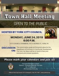 York City Council Town Hall Meeting City of York Pennsylvania