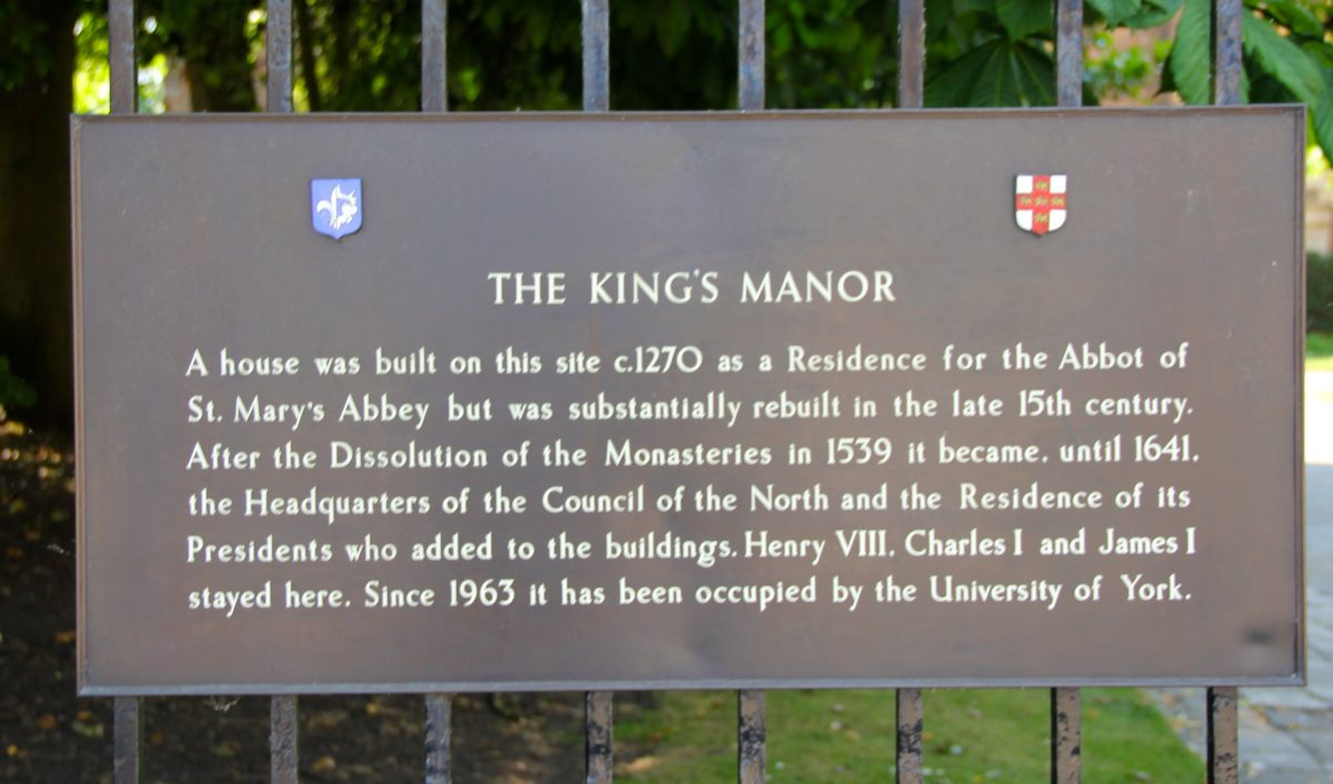 hight resolution of king s manor