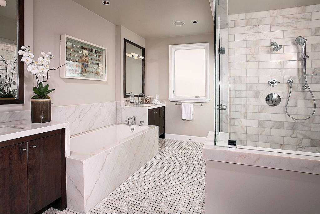 Highend home bathroom remodels in Louisburg are available from York Companies a general