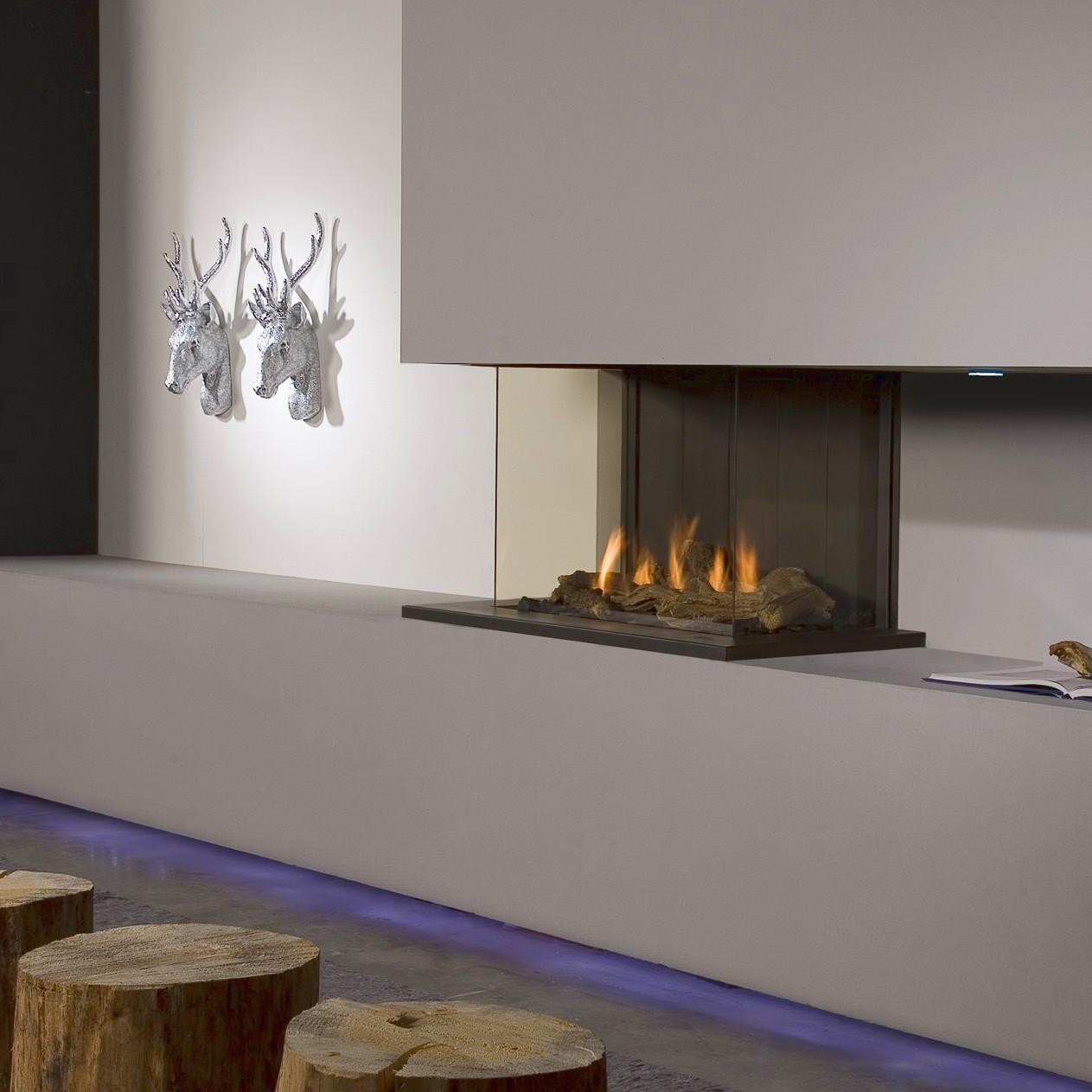 Faber Triple Premium Three Sided Gas Fire