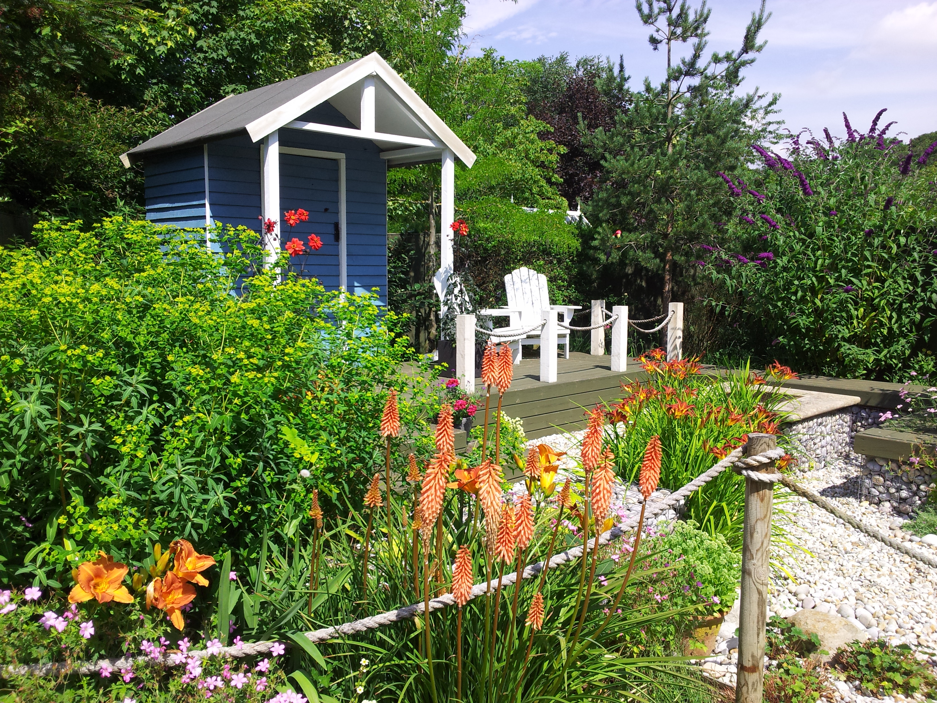 The Land's End Garden, designed as a seaside retreat.