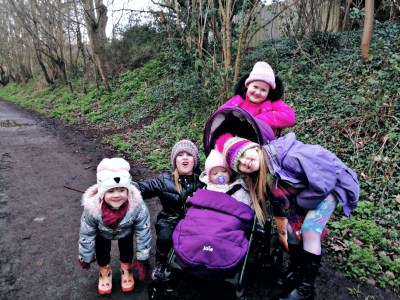 Out for a walk with my girls at the start of half term. A brief dry stint to get out and get some fresh air.