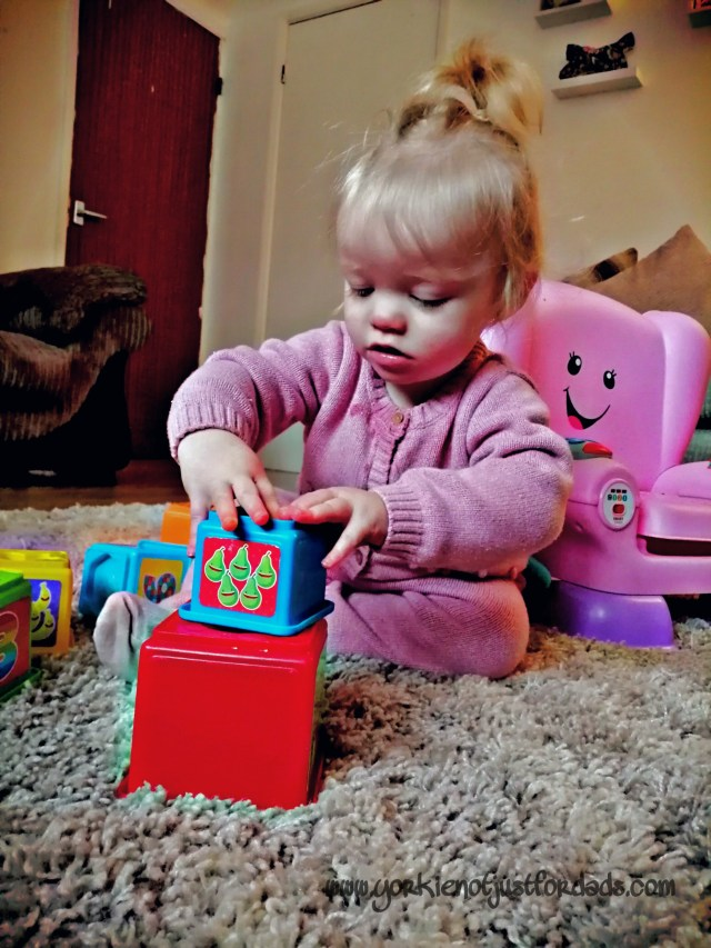 Stacking Blocks and playtime are a good form of distraction to entice your little one away from something that you may not want them to get or do.