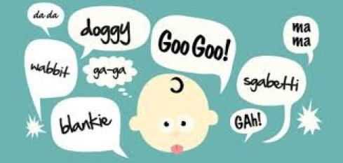 An image that aims to show a baby's first words.