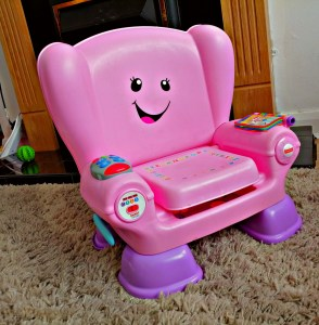 An image of Smart Changes Laugh and learn chair from Fisher Price