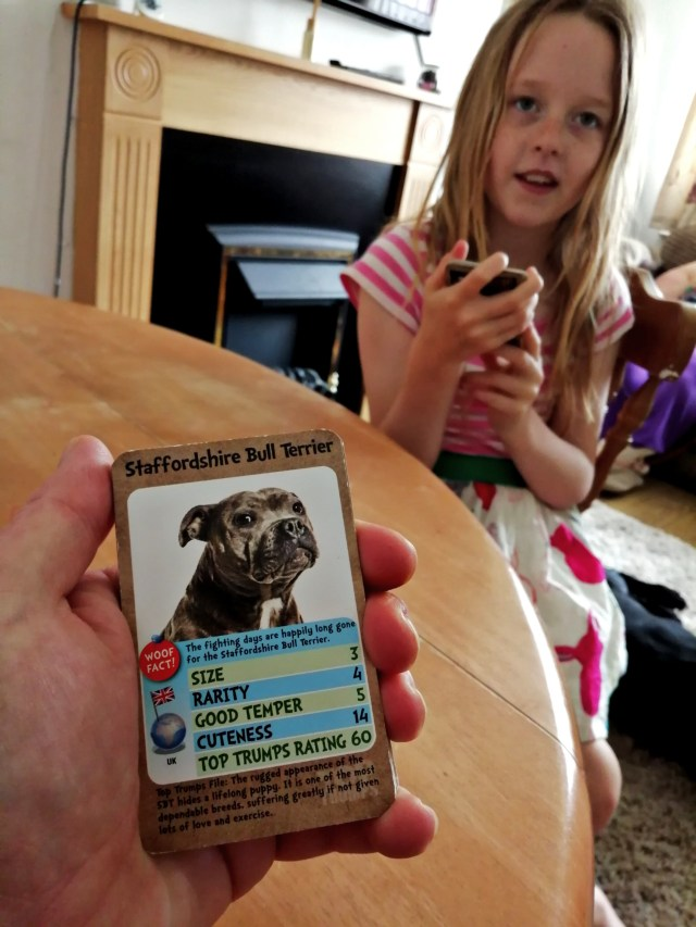 Me and my eldest stepdaughter who is nicknamed mouse. Enjoying a game of Dog's top trumps.