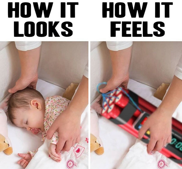 Dad Memes - Settling your baby or toddler to sleep