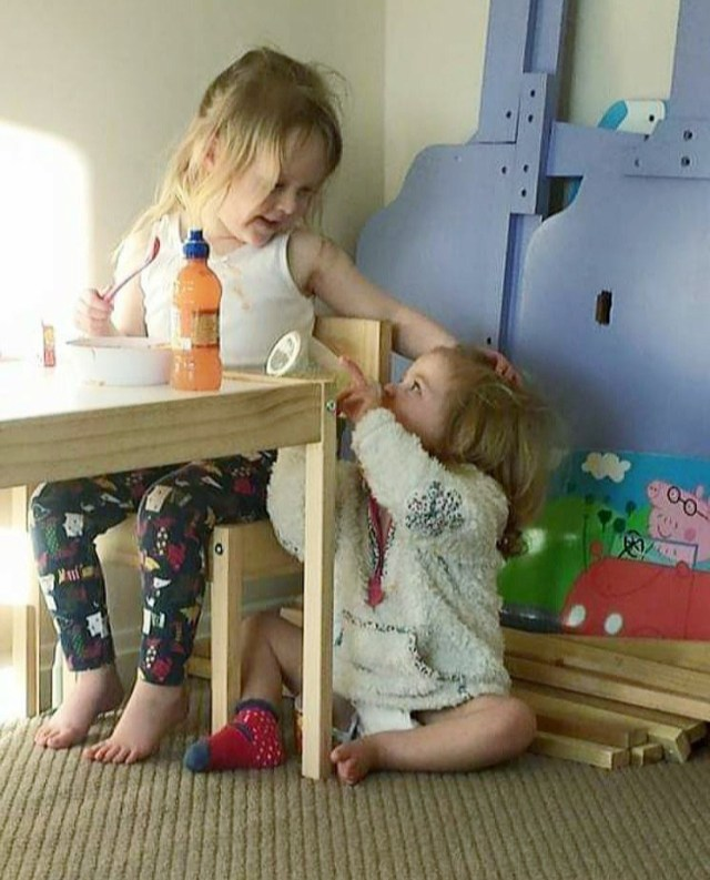 Mouse you are an amazing big sister just like this photo from 6 years ago comforting Titch. Happy Birthday my girl.