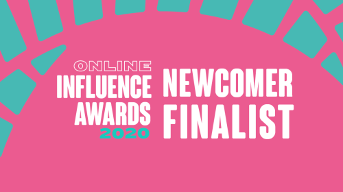 Best newcomer finalist in the vuelio online influencer awards 2020