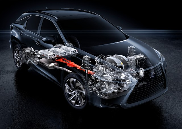 Here you can see the Lexus RX 450h Self-charging hybrid electric system, Lexus's leading hybrid technology.