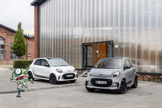 The Smart EQ Fortwo, another EV selected to find out which EV is the best choice to survive a zombie apocalypse.