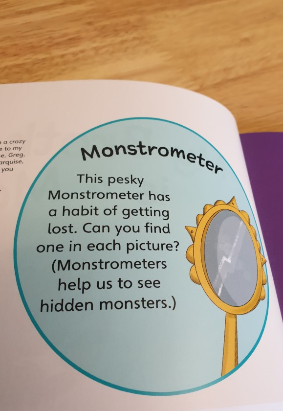 The Monstrometers are back in my Brother is a Monster- My Sister is a Monster. Hidden on every page for you and your little one to find.
