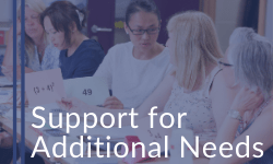 Click here to find out how we can support people with additional needs