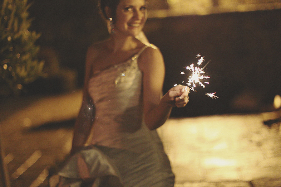 Bride with sparkler