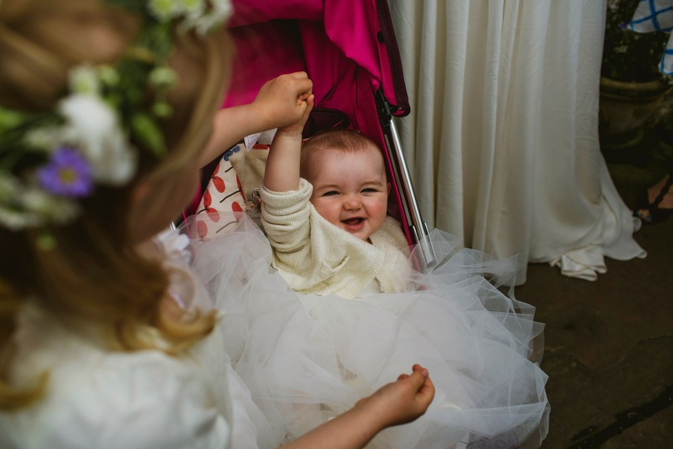Bridesmaids and flower girls in York